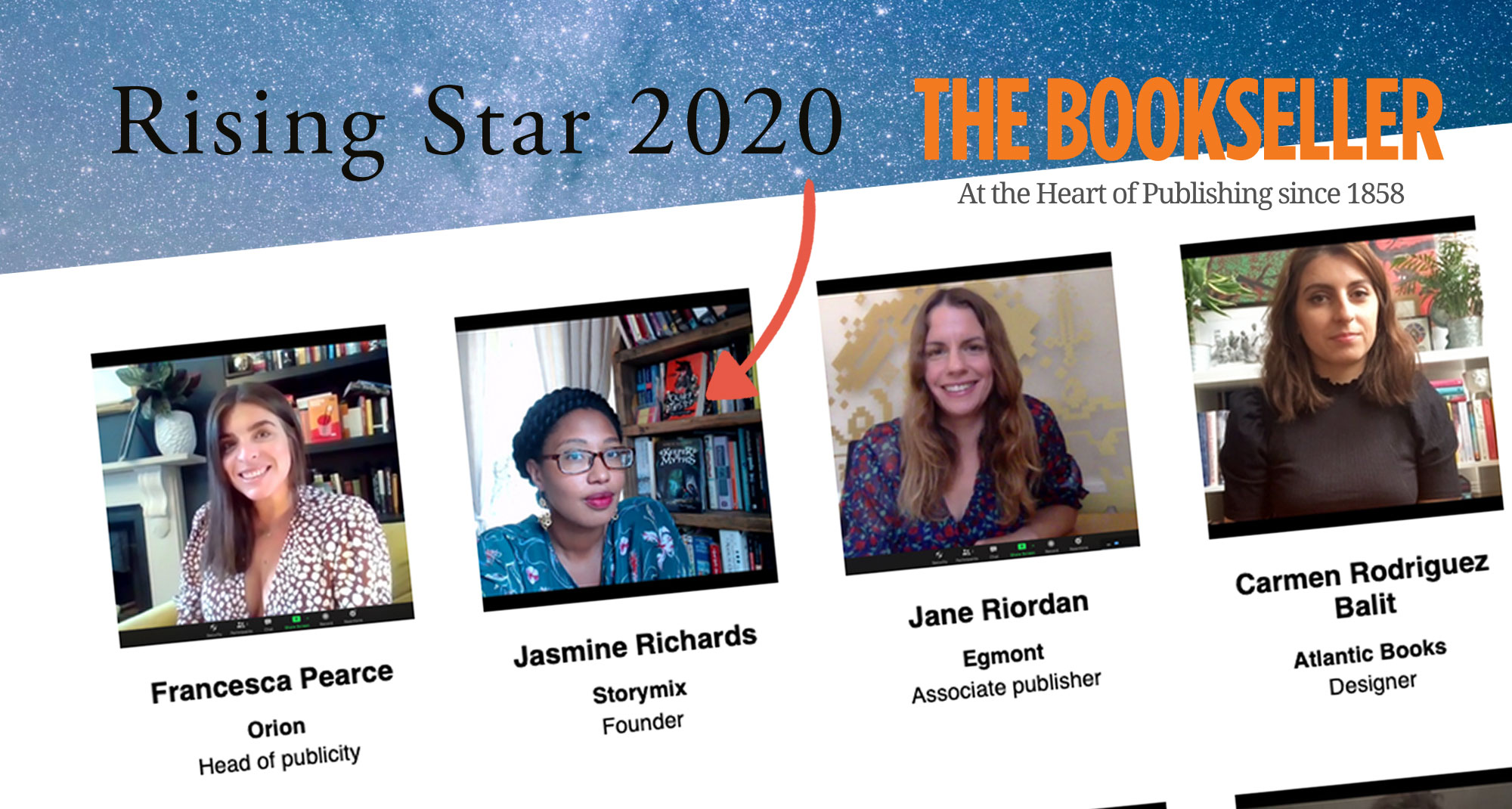 Jasmine Richards named one of The Bookseller's 2020 Rising Stars